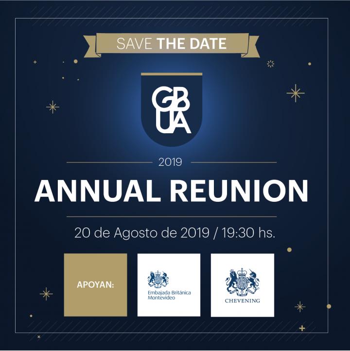SAVE THE DATE: GBUA 2019 Annual Reunion