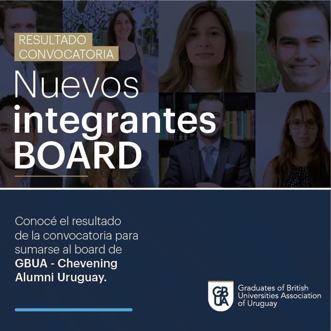 Camila Gottlieb, Sofía Mascari y Pablo Montes se suman al board de GBUA- Chevening Alumni Uruguay