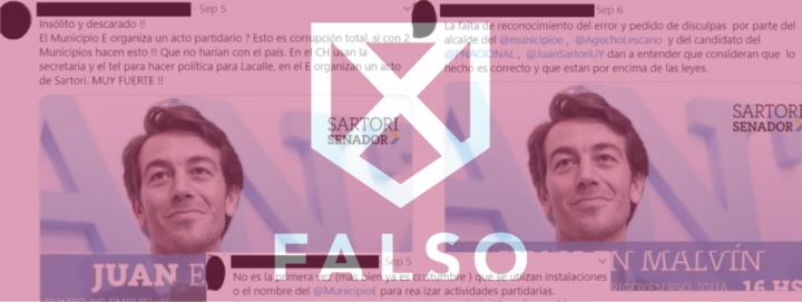 Verificado.Uy: Es falso que el Municipio E haya organizado una recorrida con Juan Sartori por Malvín Norte