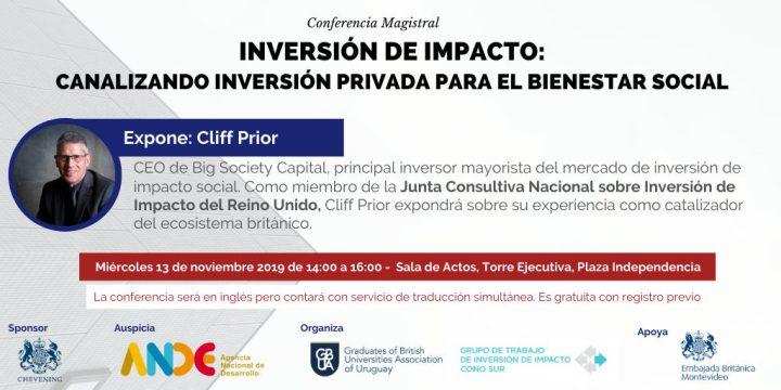 """Conferencia: """"Inversión de impacto: Canalizando inversión privada para el bienestar social."""""""